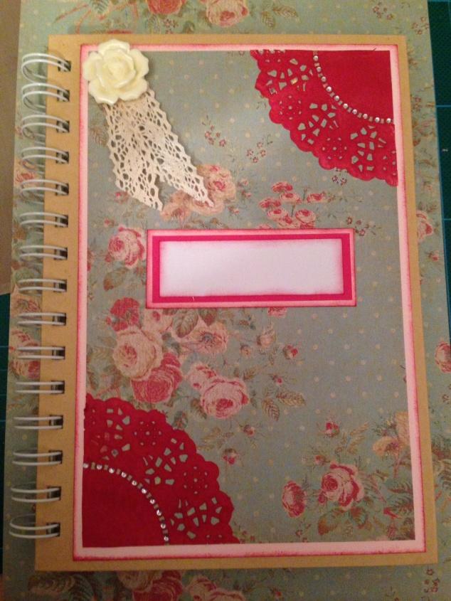 Vintage floral journal